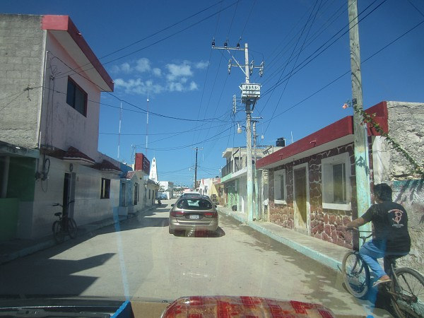 The 1 road into town