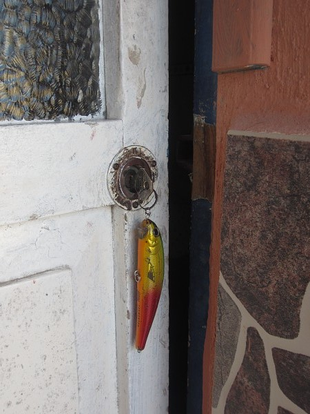 fishing lure hotel key
